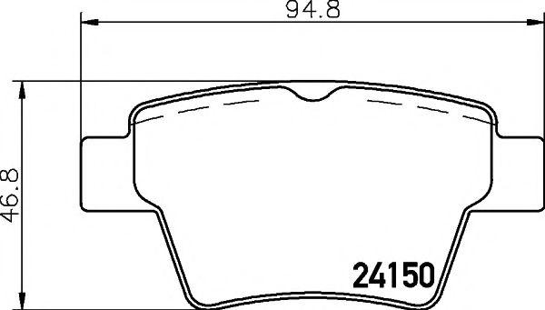 MINTEX  Тормозные колодки задн. CITROEN C4  04- PEUGEOT 207/307 MINTEX MDB2693