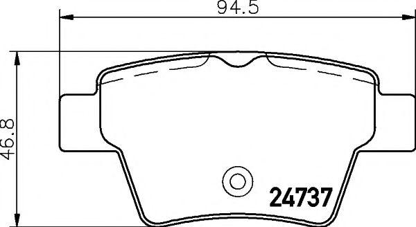 MINTEX  Тормозные колодки задн. PEUGEOT 207 06- MINTEX MDB2951