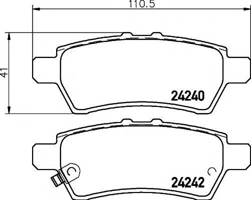 MINTEX  Тормозные колодки задн. Nissan Pathfinder 05 - MINTEX MDB2716