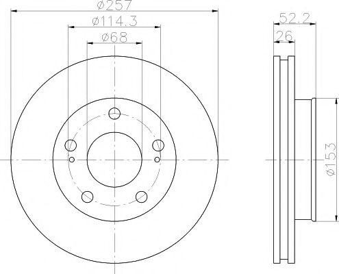 MINTEX  NISSAN Тормозной диск пер. Serena MINTEX MDC1056