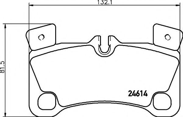 MINTEX  VW Тормозные колодки задн.Touareg,Q7 MINTEX MDB3035