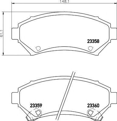 MINTEX  OPEL Тормозные колодки передние SINTRA 2.2DTI,3.0I 96-99 MINTEX MDB1824