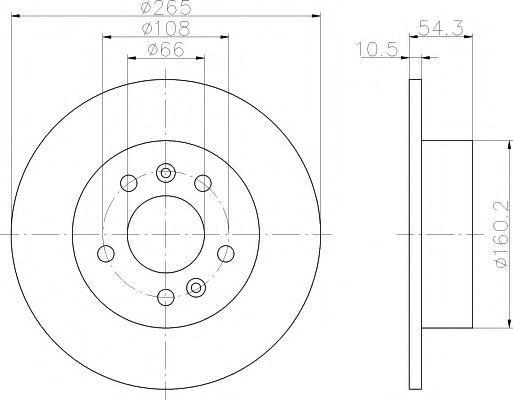 MINTEX   RENAULT Диск тормозной задний ESPACE 96- MINTEX MDC1396