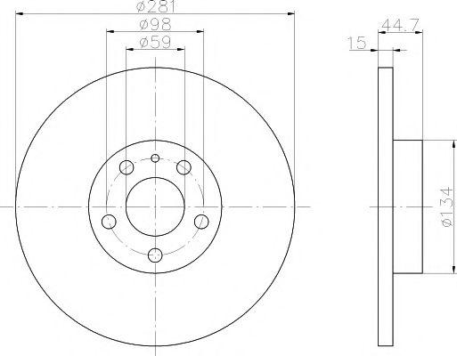 MINTEX  ALFA ROMEO Диск тормозной передний 156 1.6I 97- MINTEX MDC983