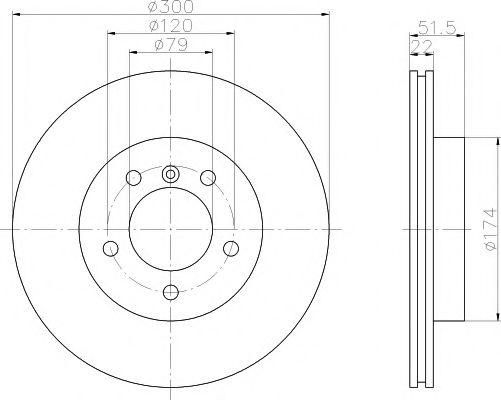 Тормозной диск  арт. MDC1383