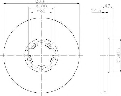 MINTEX  Диск тормозной передний TRANSIT 00- MINTEX MDC1082