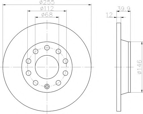 MINTEX  Диск тормозной задний AUDI A4 01- MINTEX MDC1541