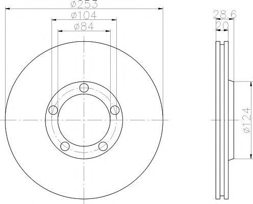 Тормозной диск  арт. MDC1319