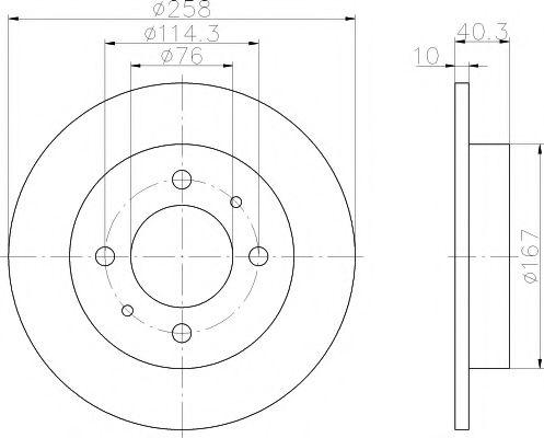 MINTEX  HYUNDAI Диск тормозной задний ELANTRA 1.6,2.0 00- MINTEX MDC1366
