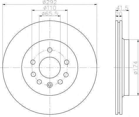 MINTEX   Тормозной диск задн.  VECTRA C 02- MINTEX MDC1675