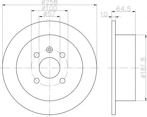 MINTEX  Тормозной диск задний DAEWOO Nubira 97- MINTEX MDC1389