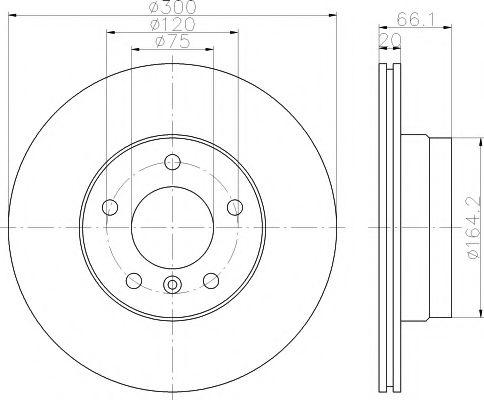 MINTEX  Диск тормозной задн BMW 116-120, 318-328 (300*20) MINTEX MDC1647