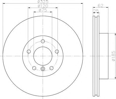 MINTEX  Диск тормозной пер. BMW X3 (325*25) MINTEX MDC1719
