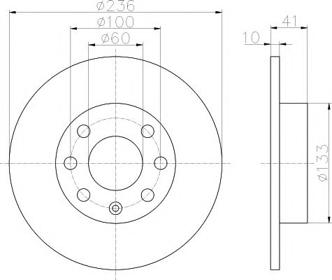 MINTEX  OPEL Диск тормозной передний CORSA 1,0-1,3 82-;KADETT D+E 1,0-1,3 MINTEX MDC199