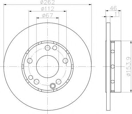 MINTEX  Диск тормозной перед. DB W201 82-94 (262*11) MINTEX MDC351