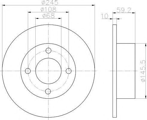 MINTEX   Диск тормозной задний 80,100 2 MINTEX MDC369