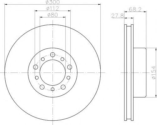 MINTEX  DB Диск тормозной W126 85-91 MINTEX MDC450