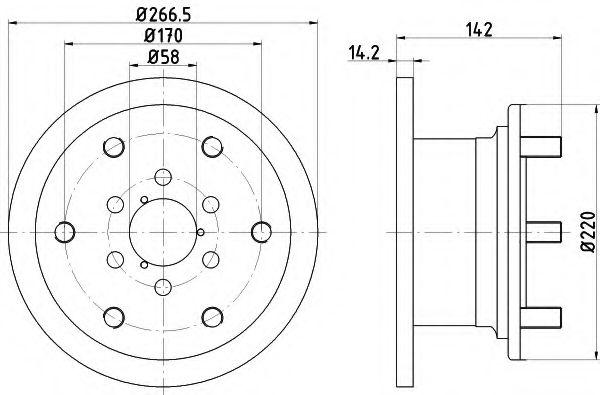 MINTEX  IVECO Диск тормозной 35.10 87-96 MINTEX MDC518
