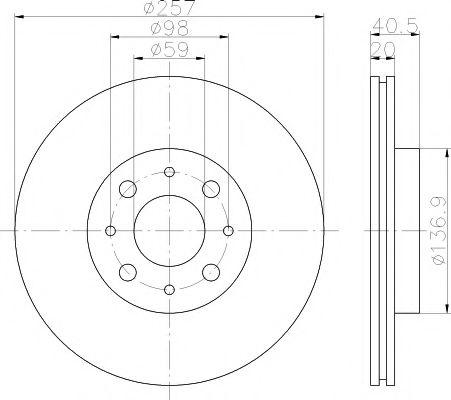 Тормозной диск  арт. MDC615