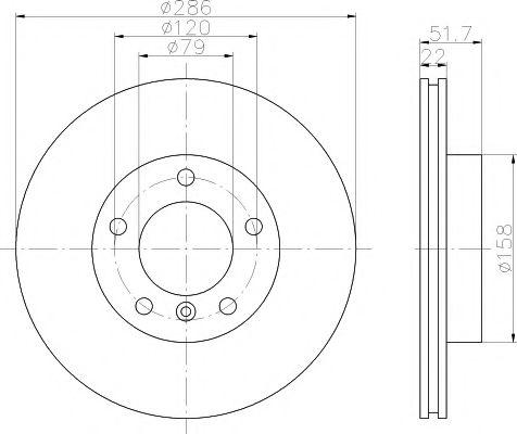 Тормозной диск  арт. MDC624