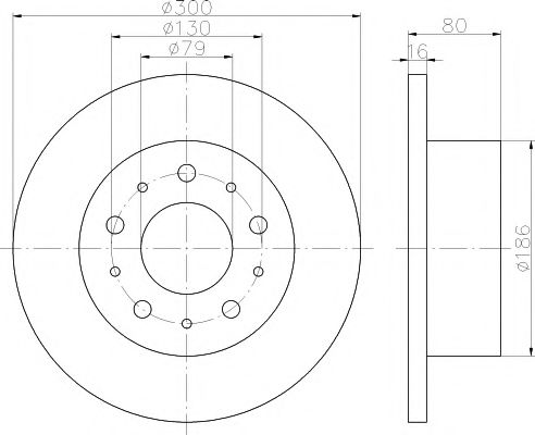 MINTEX  Диск тормозной зад. (2000кг.) CITROEN Jumper 06-, FIAT Ducato 06-, PEUGE MINTEX MDC2058