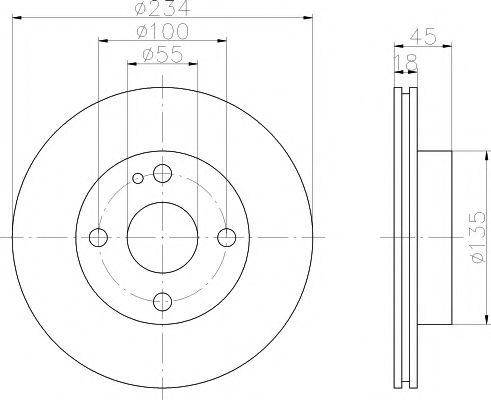 MINTEX  MAZDA Диск тормозной передний 323 -98 MINTEX MDC655