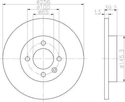 Тормозной диск  арт. MDC731
