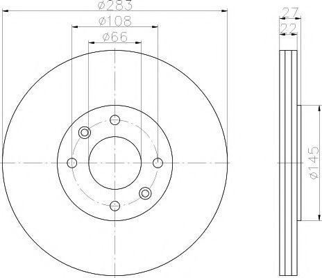 MINTEX  CITROEN Диск тормозной передний XANTIA 98- MINTEX MDC814