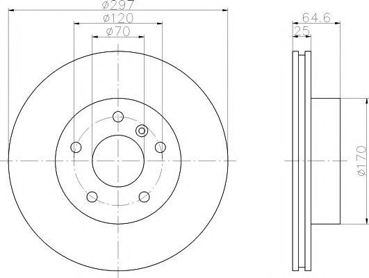 MINTEX  Диск тормозной пер. Range Rover 94-02 MINTEX MDC984