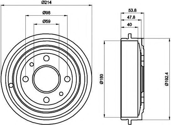 MINTEX  FIAT Тормозной барабан задн. PUNTO 93- MINTEX MBD023