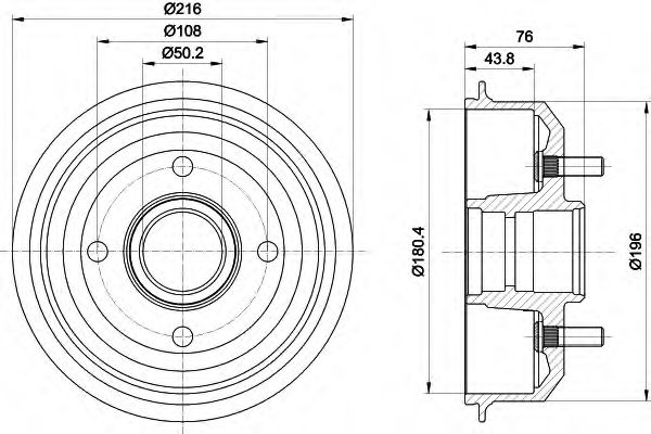 MINTEX  FORD Тормозной барабан Escort 95- MINTEX MBD036