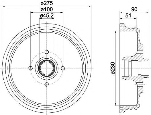 MINTEX  VW Тормозной барабан Caddy II 95-03 MINTEX MBD237