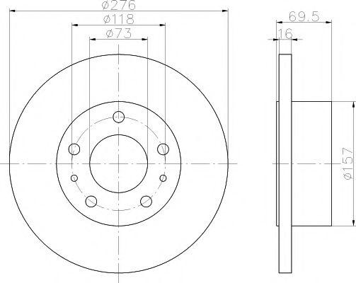 MINTEX  IVECO Диск тормозной задний DAILY 35S9-11 99- С ABS MINTEX MDC1440