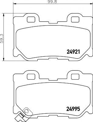 Комплект тормозных колодок, дисковый тормоз  арт. MDB3110
