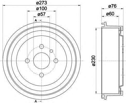 MINTEX   OPEL Тормозной барабан задний Kadett, Record, Ascona, Combo (230*60) MINTEX MBD003