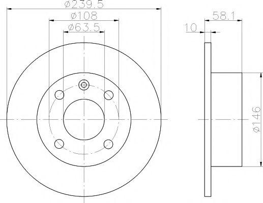 MINTEX  FORD Диск тормозной передний (239,5*10) Escort ,Orion -90 MINTEX MDC411