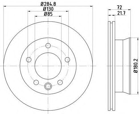 MINTEX  Диск тормозной перед. DB Sprinter 95-06 (285*22) MINTEX MDC2127