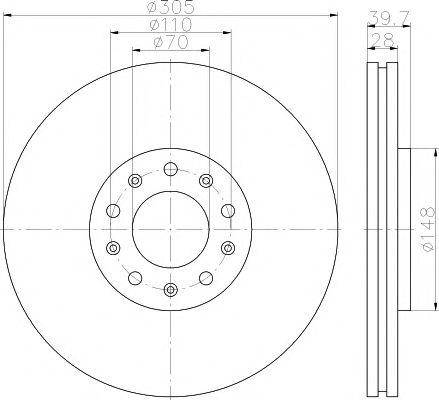 Тормозной диск  арт. MDC2157