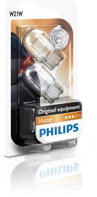 Лампа накаливания W21W 12V W3x16q  2шт bliste VISION (пр-во Philips)                                  арт. 12065B2
