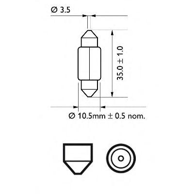 Лампа накаливания C5W 12V SV8,5 3200К (пр-во Philips) в интернет магазине www.partlider.com