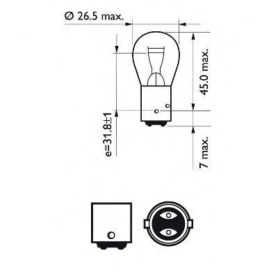 Лампа накаливания P21/4W12V 21/4W BAZ15d (пр-во Philips) в интернет магазине www.partlider.com