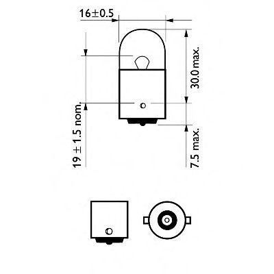 Лампа накаливания R10W 12V 10W BA15s 2шт blister (пр-во Philips) в интернет магазине www.partlider.com