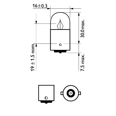 Лампа накаливания R5W12V 5W BA15s (пр-во Philips) в интернет магазине www.partlider.com