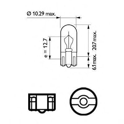 Лампа накаливания W3W12V 3W W 2,1X9,5d (пр-во Philips) в интернет магазине www.partlider.com