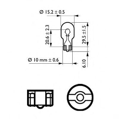 Лампа накаливания W16W12V 16W W 2,1X9,5d (пр-во Philips)                                             в интернет магазине www.partlider.com
