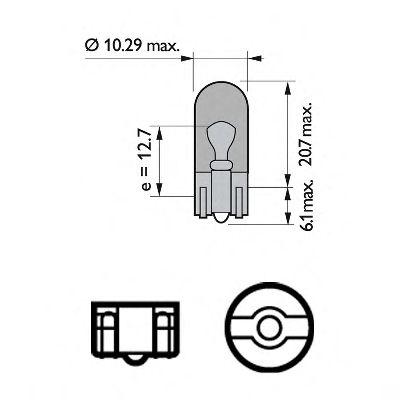 Лампа накаливания WY5W 12V 5W W 2,1X9,5d STANDARD (пр-во Philips) в интернет магазине www.partlider.com