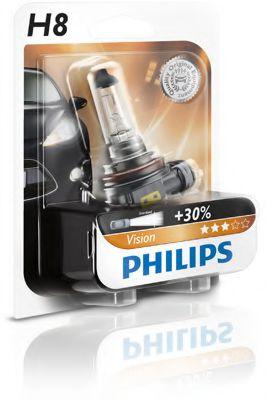 Лампа накаливания H8 12V 35W PGJ19-1  1шт blister (пр-во Philips)                                     арт. 12360B1