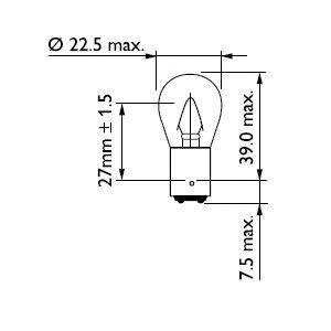 Лампа накаливания Stop P22 12V 15W BA15s (пр-во Philips)                                             в интернет магазине www.partlider.com