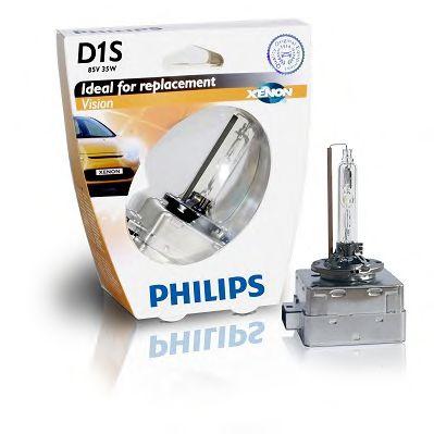 Лампа ксеноновая D1S Vision 85В, 35Вт, PK32d-2 4600К (пр-во Philips)                                  арт. 85415VIS1