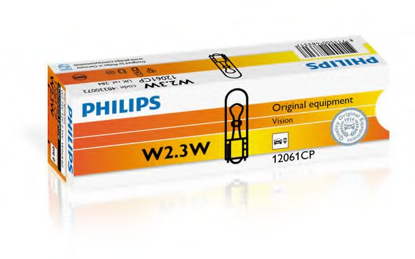 Лампа накаливания W2,3W 12V 2,3W W2X4,6d (пр-во Philips)                                              арт. 12061CP